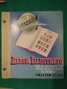 "Album ""Sapere"" illustrato raccolta francobolli"