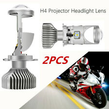 2pcs Headlight  Mini Double Lens H4 LED Projector Auto Lamps Motorcycles 12V 60W