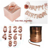 ROSE GOLD FOIL BALLOONS CAKE BOX BALOON WEIGHT HAPPY BIRTHDAY FOIL BALLON