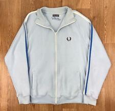Vintage 90s FRED PERRY Mens Track Jacket | Casual Sport Retro | Large L Blue