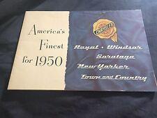 1950 Chrysler Saratoga New Yorker Imperial Windsor Color Brochure Prospekt
