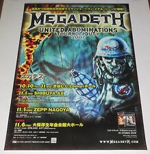 MEGADETH rare JAPAN PROMO ONLY 2007 tour POSTER more in stock ORIGINAL