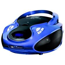 Cyberlux CD Player Tragbares Stereo Radio mit CD/MP3 Player USB SD blau