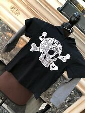 NWT Gymboree Black  L/S Layered Hoodie Skull Crossbones Halloween Shirt 5