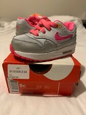 EXCLUSIVE NEW Air Max 1 (TD) Design From New York UK Size 4.5 Silver Grey Pink