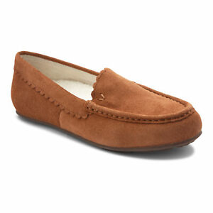 Vionic Womens Haven Mckenzie Toffee Moccasin Slippers Size 8.5