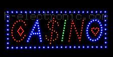 LED Schild Casino Spielbank neon reklame Schilder XXL Sonderangebote