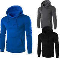 Fashion Mens Retro Long Sleeve Hoodie Hooded Sweatshirt Tops Jacket Coat Outwear