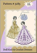 #5185 Knit & Crochet Elegant Lace Doll Gown Patterns