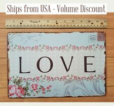 LOVE Sign Love House Sign Love Door Sign Cute Love Sign Love Art Love Metal Sign