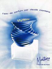 PUBLICITE ADVERTISING 114  1992  MONTANA   parfum de peau