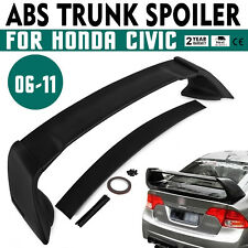 Set For 06-11 Honda Civic 4DR Rear Tail Trunk Wing Spoiler Unpainted ABS US
