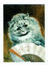 POST CARD ART CARD BY LOUIS WAIN THE FLIRT WITH WITH THE FAN