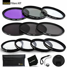 58mm Filters Kit f/ CANON Lenses and Cameras