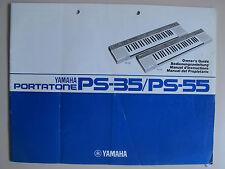 Yamaha Keyboard Portatone Anleitung gebr PS-35 PS-55 auch in deutsch