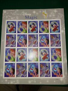 SCOTT #4192-95  DISNEY  MAGIC  41 CENT     SOUVENIR SHEET   MNH
