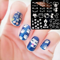 BORN PRETTY Nail Art Stamp Template Square Image Stamping Plates Cat BP-X11