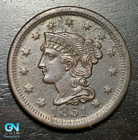 1851 Braided Hair Large Cent --  MAKE US AN OFFER!  #B6003