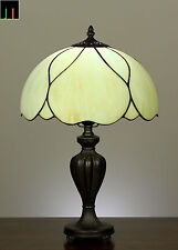 "12"" JT Tiffany Modem Stained Glass Bedside Side Table lamp Light"