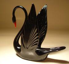 """Blown Glass """"Murano"""" Art Animal Figurine Bird Black SWAN"""