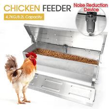 8.2L Automatic Chicken Food Feeder Treadle Self Opening Feed Galvanized AUStock