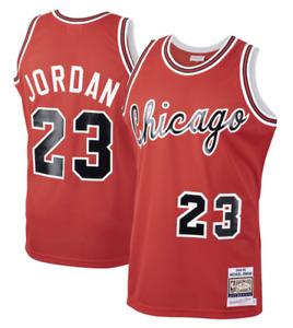 Men's Chicago Bulls Michael Jordan Mitchell & Ness Red 1984-85 Classics Jersey
