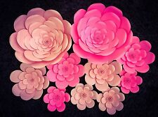 Pink Giant  paper flower set of 10, wedding, homedecor, backdrop, party decor