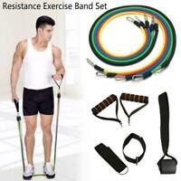 11Pcs/Set Resistance Exercise Band Yoga Pilates Abs Fitness Tube New Workou W5Q6