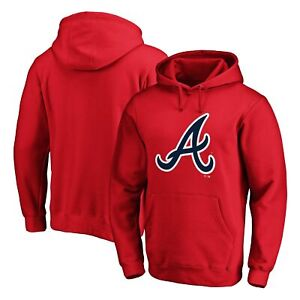 Atlanta Braves Fanatics Branded Official Logo Pullover Hoodie - Red