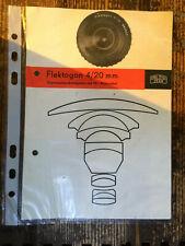 Carl Zeiss Flektogon 4/20mm Prospekt Text.deutsch - Classic-Camera-STORE