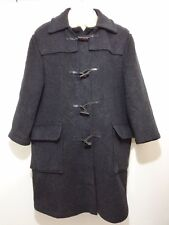Gloverall Mens 42 Gray Wool Blend Toggle Coat Overcoat England Short Arms