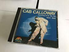 Cab Calloway : King of Hi-De-Ho: 1934-1947 CD (1999) UNPLAYED MINT