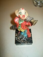 Vintage Fontanini Depose Clown Figure Made in Italy Hand Painted Marble Base