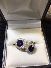 Double Twist Style Sapphire Ring Silver