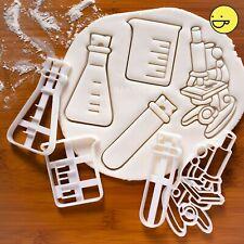 Set of 4 Science Laboratory Equipment cookie cutter | test tube, beaker, etc