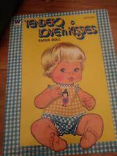 Vintage 1978,Tender Love'N Kisses paper doll book, Uncut/Unused