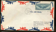 First Day Cover #C24 From New York 1939 to San Fernando CA - Cat Value