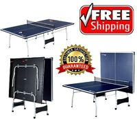 Ping Pong Tennis Table Folding Tournament Size Game Set Indoor Outdoor