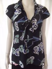 SUSSAN Womens short sleeve Navy top size 8