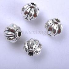 50 piezas plata tibetana cuentas espaciadoras 6X5MM SH112