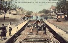 CHALON sur SAÔNE Canal du Centre Eclusage d'un Bateau (1)