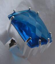 Swiss Blue Topaz Sterling Silver ring  Sz 8 - BRAND NEW STOCK!!
