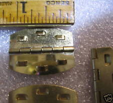 New Barbed Biscuit Hinges Kerf Cut 18 Pair Brass Plated