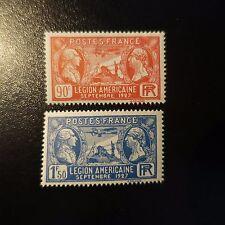 FRANCE VISITE DE LA LÉGION AMÉRICAINE N°244/245 NEUF ** LUXE GOMME D'ORIGINE MNH
