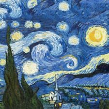 Starry Night Painting Reproduction On The Wall By Van Gogh Wall Art Home Poster