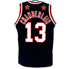 Wilt Chamberlain #13 Harlem Basketball Jerseys Black Blue Edition All Stitched
