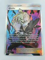 Gladio Gladion FULL ART Supporter FRENCH 109/111 SM Crimson Invasion Pokemon NM