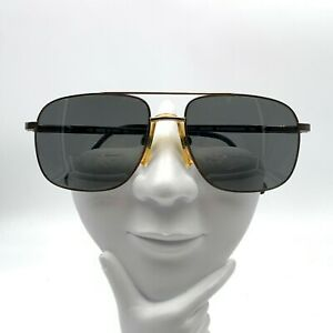 Vintage Luxottica Hector Gold Silver Metal Aviator Sunglasses Italy FRAMES ONLY