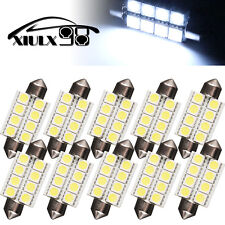 10X 7000K White Festoon 42MM 5050 8SMD Dome Map Interior LED Light 578 211-2 US