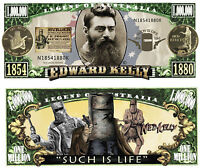 RARE: NED KELLY $1,000,000 Novelty Note, Outlaw, Man Cave. Buy 5 Get one FREE